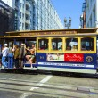 Famous cable car in San Francisco — Stock Photo