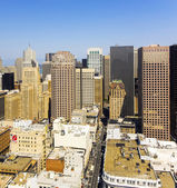 View from the rooftop to the city of San Francisco — Stock Photo