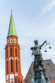 Lady justice in Frankfurt — Stock Photo