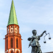 Lady justice in Frankfurt — Stock Photo #17520597