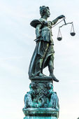 Lady justice in Frankfurt — ストック写真