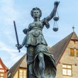 Lady justice in Frankfurt — Stock Photo #17532433