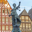 Stock Photo: Lady justice in Frankfurt
