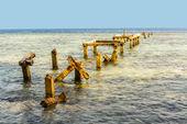 Old rotten pier in Indonesia — Stockfoto