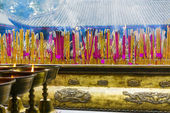 Joss sticks near Giant Buddha — Stock Photo