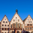 Famous Roemerberg in Frankfurt, former historic city center — Stock Photo #17611899