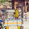 Stock Photo: On lorry at Sadar market at clocktower