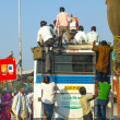 Stock Photo: Travel by overland bus at the Jodhpur Highway