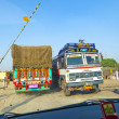 Travel by overland bus at the Jodhpur Highway — ストック写真