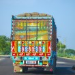 Colorful painted truck in India — Photo