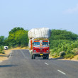 Travel by overland bus at the Jodhpur Highway - Стоковая фотография