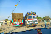 Travel by overland bus at the Jodhpur Highway — Foto Stock