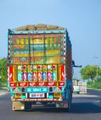 Colorful painted truck in India — Stock Photo