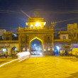 Sardar market at the clocktower by night — Stock Photo