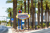 Downtown Las Vegas welcome sign — Stockfoto
