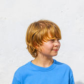 Portrait of cute young boy — Stock Photo