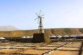 Refinaria de sal, salina de janubio, lanzarote — Fotografia Stock