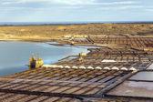 Salt refinery, Saline from Janubio, Lanzarote, Spain — Stock Photo