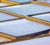 Refinaria de sal, salina de janubio, lanzarote, espanha — Foto Stock