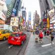 Times square in New York in afternoon light — Stock Photo