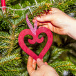 Chrismas tree with candles — Stock Photo