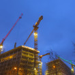 Construction site at the Reeperbahn in Hamburg - Stock Photo