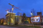 Construction site at the Reeperbahn in Hamburg — Stock Photo
