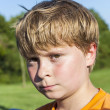 Angry and sad boy - Stockfoto