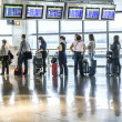 Passengers wait for Departure in Madris Airport due to delay — Stock Photo #18187479