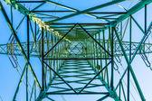 Elektriska tornet från inuti perspektiv — Stockfoto