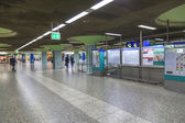 Hurry in the METRO station Hauptwache — Stock Photo