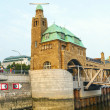 Part of the famous Landungsbruecken in Hamburg - Stock Photo
