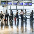 Passengers wait for Departure in Madris Airport due to delay — Stock Photo
