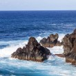 Rough cliffs at the shore of Lanzarote — Stock Photo