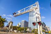 Railroad crossing in San Diego — Stock Photo