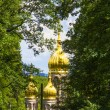 Famous russian orthodox church with golden copula — Stock Photo