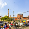 Around Jama Masjid Mosque, old Delhi, India — Stock Photo