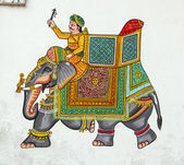 Wall painting in Udaipur at a local house — Stock Photo