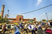 Around Jama Masjid Mosque, old Delhi, India — Stock Photo