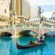 venice resort in las vegas with in the gondola — Stock Photo #18537675
