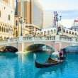 Venice resort in Las Vegas with in the gondola — Stock Photo #18537797