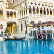 Venice resort in Las Vegas with in the gondola — Stock Photo