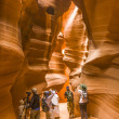 Постер, плакат: Photographers shooting of the upper Antelope Canyon