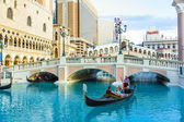 Venice resort in Las Vegas with in the gondola — Stockfoto
