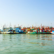 Fisherboats in harbor — Foto Stock #18627395