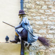 Old medieval witches and issues around superstition - Stock Photo