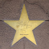 Star of Gary Cooper on sidewalk in Phoenix, Arizona. — Stock Photo
