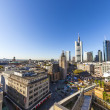 View to skyline in Frankfurt with skyscraper — Stock Photo
