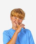 Cute bold faced boy — Stock Photo