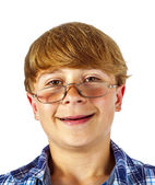 Happy smiling young teen with glasses — Foto de Stock
